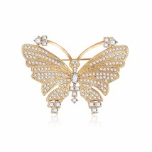 Transmit love Brooch and Pin for woman Fashion butterfly full zircon bro... - $22.55