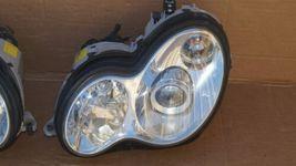 03-07 Mercedes W203 C230 C280 Xenon Headlight Head Light Lamps Set L&R POLISHED image 3