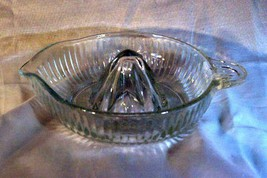 Anchor Hocking Clear Glass Flat Juice Reamer - $8.09