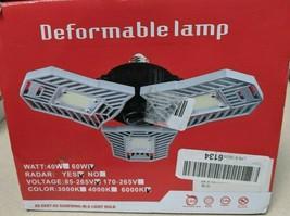 LED Garage Lights, 60W E26/E27 6000LM Deformable Ceiling Lighting for Full Area, - $24.74