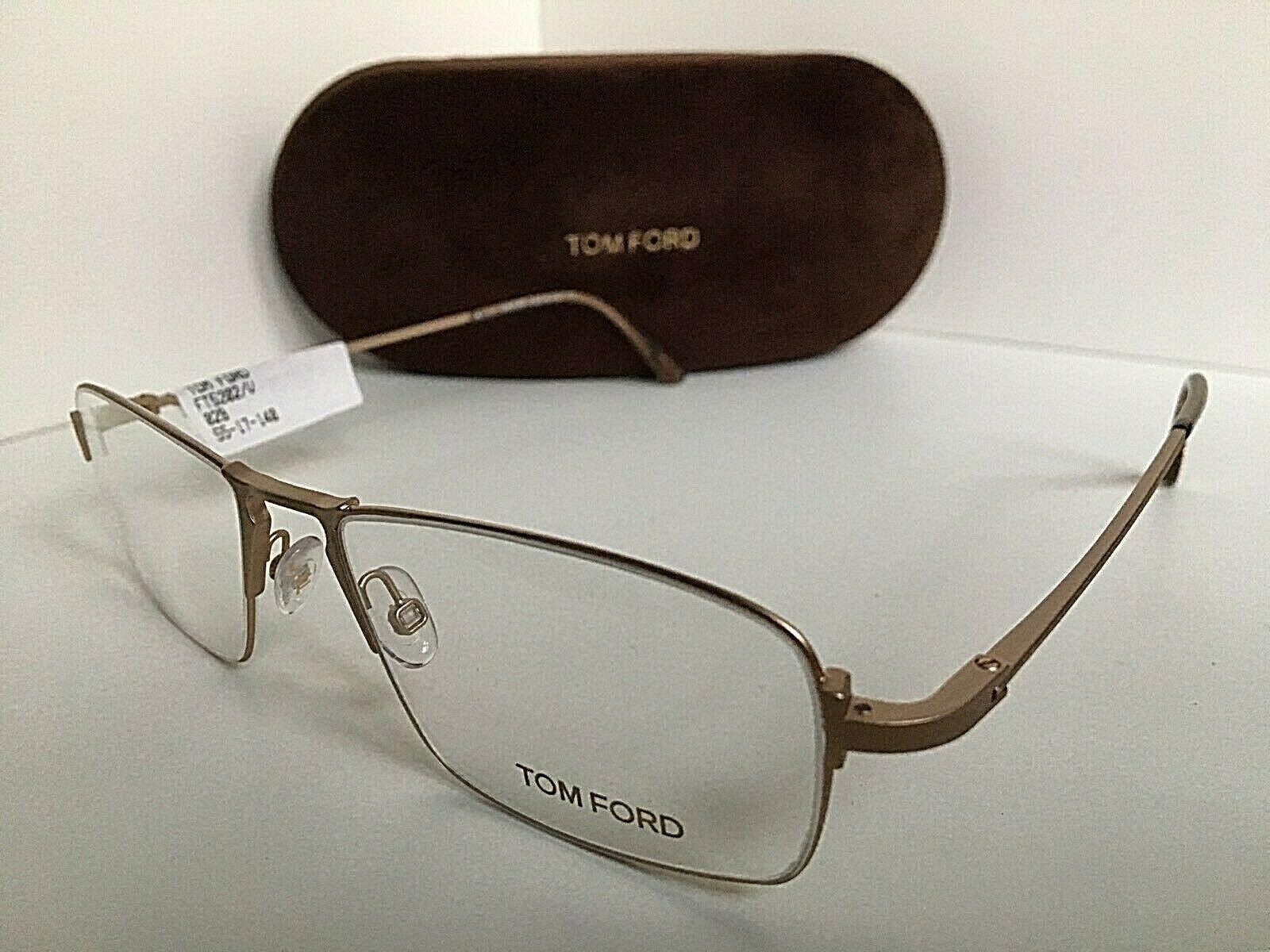 New Tom Ford TF 5202 TF5202 029 Matte Gold 55mm  Eyeglasses Frame Italy