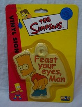 """The Simpsons BART SIMPSON """"FEAST YOUR EYES, MAN"""" Plastic Window Cling NEW - $16.34"""