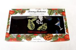 TOMMY BAHAMA Men's CASUAL CREW Socks HAPPY HOLIDAYS 3 Pairs GIFT BOX - New! - $17.95