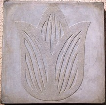 "DIY Tulip Flower Stepping Stone Concrete Mold, Large 18x18x2.25"", FAST FREE SHIP image 1"