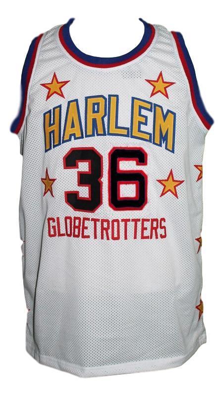 Meadowlark lemon harlem globetrotters basketball jersey white   1