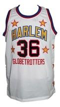 Meadowlark Lemon #36 Harlem Globetrotters Basketball Jersey Sewn White Any Size image 1