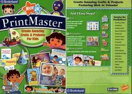 PrintMaster Nick Jr. (PC-DVD, 2008) for Windows XP/Vista - NEW in BOX - $4.98