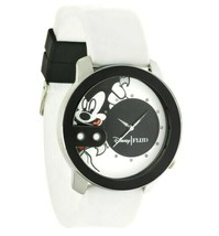 NEW Flud Mickey Mouse Rex Pose White and Black Steel Quartz Analog Watch 2 Bands image 2