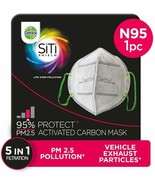 Dettol Anti Pollution Mask N95 Siti Shield Carbon Activated, 1 Unit - $9.99
