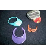 Lot of 4 Vintage 80's Barbie Items Hat Visors Sunglasses Perfect Condition - $19.75