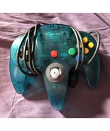 Nintendo 64 N64 OEM Ice Blue Controller Authentic NUS-005 TESTED - $21.67