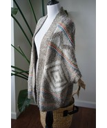 American Eagle Outfitters Women's Aztec Open Caftan Shawl Long Vest Size... - $18.99