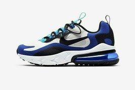 Nike Big Kid's Air Max 270 React Shoes NEW AUTHENTIC White/Hyper Blue BQ... - $109.99