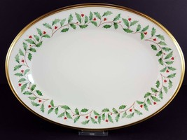 """LENOX China Holiday Dimension 14"""" Oval Serving Platter Dinnerware - $49.49"""