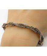 925 Sterling Silver - Vintage Minimalist Linked Loops Tennis Bracelet - ... - $77.44