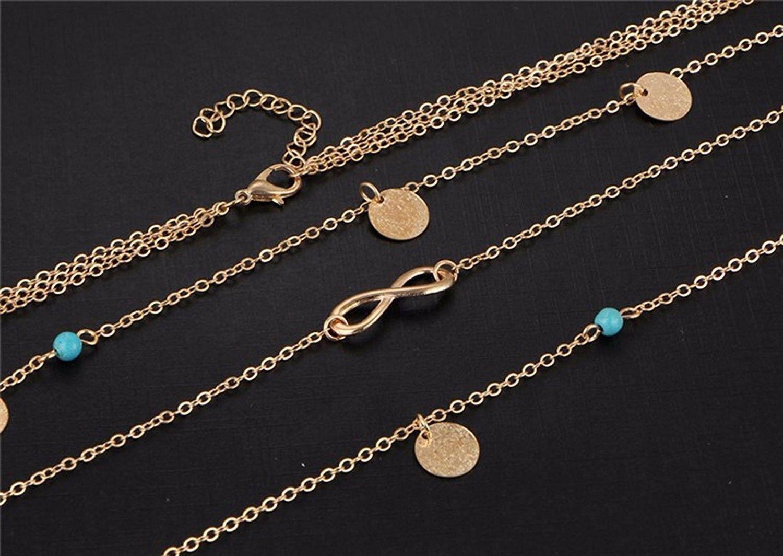 DZG Fashion Jewelry Women's Multi Chain Jewelry (Multi Chain Choker)
