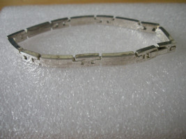 """Beautiful Solid 925 Sterling Silver Long and Short Link Bracelet 7 1/4"""" ... - $27.01"""