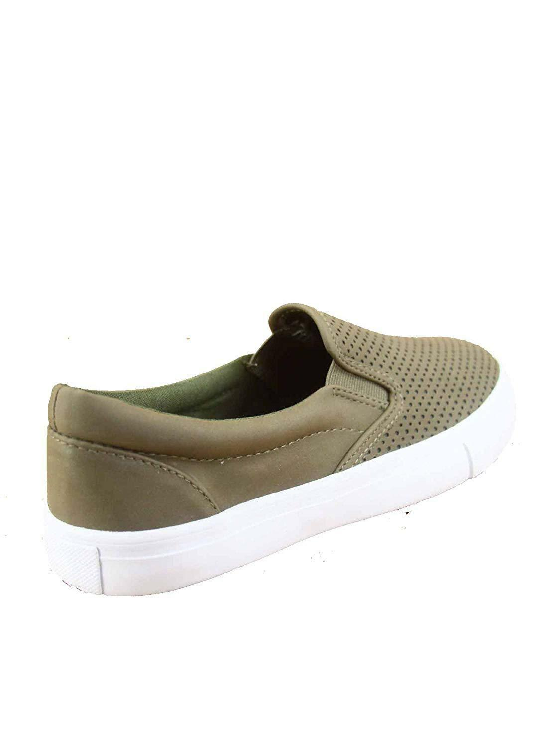 Soda Tracer-S Women's Cute Perforated Slip On Flat Round Toe Sneaker Shoes image 3