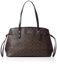 Coach Signature Drawstring Carryall Shoulder Bag F57842 (Brown/black) - $143.55