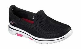 Women's Skechers GOwalk 5 Walking Shoe Black/Hot Pink Size 5 M - $91.44