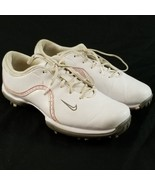 Nike Womens Ace Golf Shoes Size 7 Great Shape White Pink Cleats Spikes 4... - $26.83