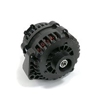 A-Team Performance GM AD244 Style High Output 220 Amp Alternator Black Compatibl