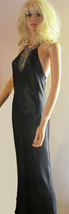 Victoria's Secret $198 Black Silk Beaded Gown or Bridal Nightgown XS - $76.88