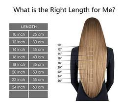 Hetto Double Sided Human Hair Extensions #14 Dark Blonde and #613 Blonde Human H image 9
