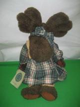 "Plush Brown 14"" Moose Boyds Bears Bearwear Collectables J. B. Bean & Assoc - $14.92"