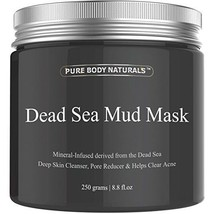 Dead Sea Mud Mask Pure Body Naturals Beauty For Facial Treatment 250g/8.... - $23.36