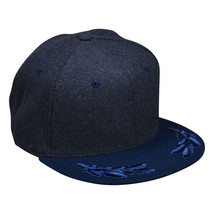 Captain Wool Hat by LET'S BE IRIE - Gray and Blue Snapback, Chief, Comma... - £20.83 GBP