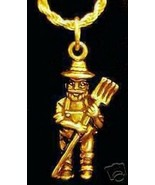 SALE Old Mcdonald Charm Farmer and the dell Gold Plated - $16.25