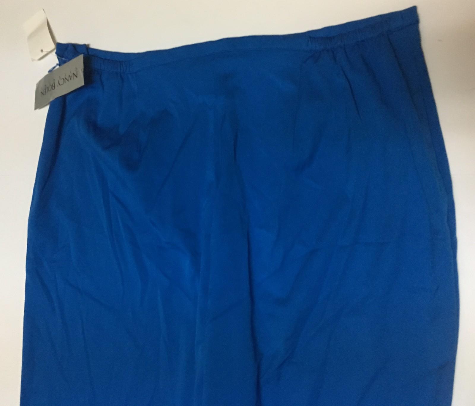 Nancy Bolen City Girl Pants Ocean Blue SZ 16 NWT