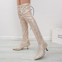 Women Lace Up Over The Knee Boots Snake Pattern Woman Fashion High Boot 2020 ... - $45.93+