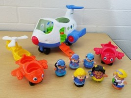 Fisher People Little People Musical Airplane Plus Figures Vechiles Lot 2013 - $26.34