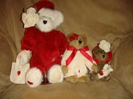Boyds Bears Valentine Hannah, Ursula, Greta & Sarabeth QVC Plush Set - $59.99