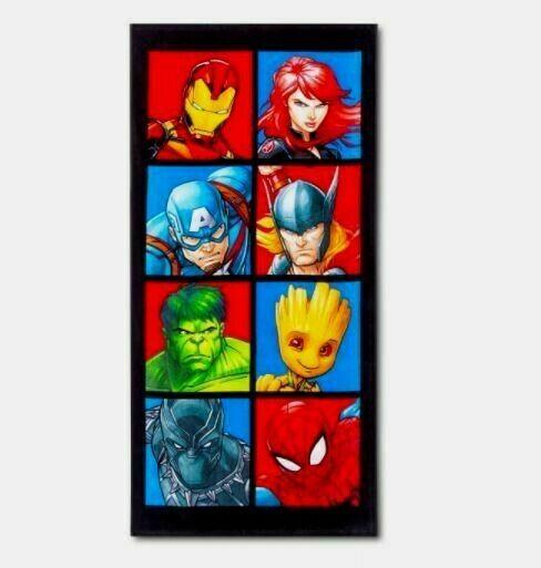 Avengers Faces of Heroes Beach Towel - Marvel