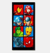Avengers Faces of Heroes Beach Towel - Marvel   image 1