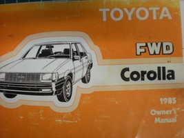 1985 Toyota Corolla Owners Operators Manual - $4.94