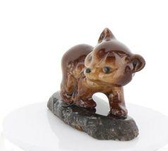 Hagen Renaker Miniature Baby Bear Cub Walking on Base Stepping Stones #2758 image 5