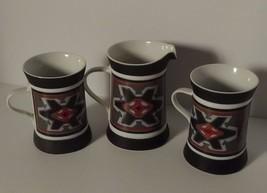 Set of 2 cups and Creamer Quadrille Sango Malta 7019 japan ceramic south... - $35.21