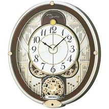 SEIKO CLOCK Wall Clock Radio Wave Analog 6 song melody RE577B w/ Tracking - $279.99