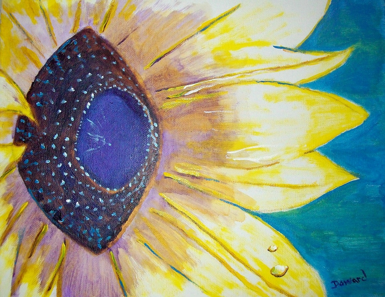 """Modern Floral Painting """"Sunflower"""""""