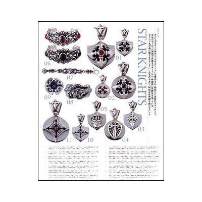 Star Knights Sterling Silver Star Shield Pendant-Heavy Rocker Biker 3-D Design