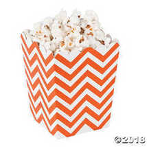Mini Orange Chevron Popcorn Boxes  - $6.21