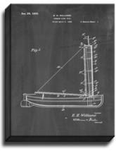 Stream-line Sail Patent Print Chalkboard on Canvas - $39.95+