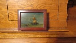 BEAUTIFUL VINTAGE SOLID WOOD SHIP JEWELRY BOX - $45.00
