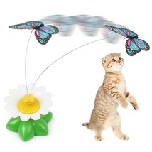 1Pcs Cat Toy Electric Rotating Colorful Butterfly Animal Toys Plastic Fu... - $6.35