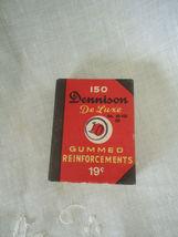 Vintage Dennison Gummed Reinforcements No 52-102 (2) Framingham MA - $5.20