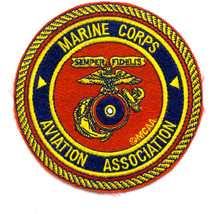US Marine Corps Aviation Association Military Patch SEMPER FIDELIS NEW!!! - $11.87